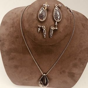 Brighton necklace and 2 pairs of earrings to match